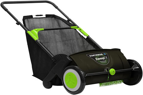 Leaf & Grass Push Lawn Sweeper image