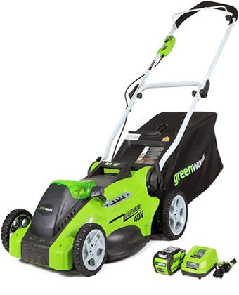 Greenworks G Max Cordless Lawn mower; image