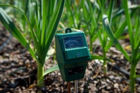 Moisture content on Soil; image