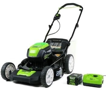 Greenworks Pro 21-Inch Cordless Push Lawn Mower,