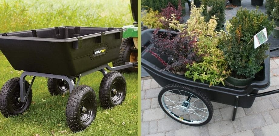 Dump Cart for Lawn Tractor and Garden Cart