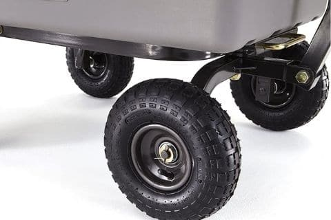 Dump cart tires