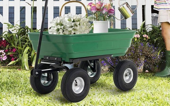How to maintain a garden dump cart.