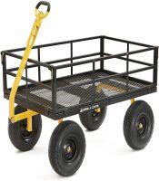 WORX Gorilla Carts GOR1400-COM Heavy-Duty Steel Utility Cart Aerocart 8-in-1 Wheelbarrow