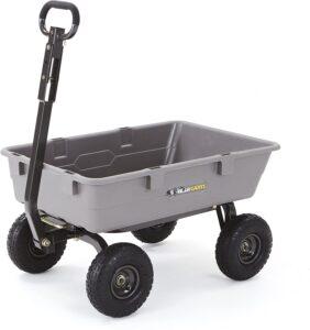 Gorilla Carts Poly Garden Dump Cart with Steel Frame