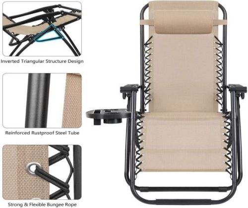 Devoko Patio Zero Gravity Chair Outdoor Folding Adjustable Reclining Chairs ,parts