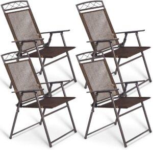 Giantex Set of 4 Patio Folding Sling chair