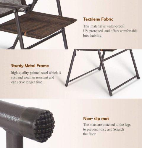 Giantex Set of 4 Patio Folding Sling chair, parts