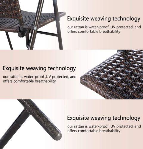 Tangkula 4 PCS Folding Patio Chair Set , parts