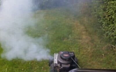 White Smoke from Lawn Mower? Solve It