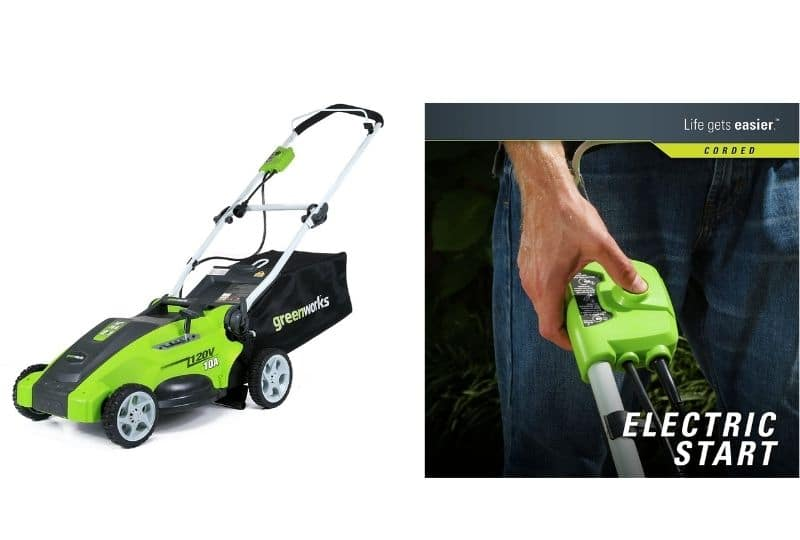 corded electric start lawn mower